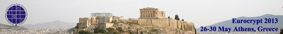 EUROCRYPT 2013 in Athens